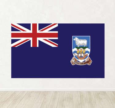 Autocollant mural drapeau Malouines