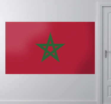 Decals - The Moroccan flag. Morocco, located in North Africa. Ideal for homes or businesses. Extremely long-lasting material.