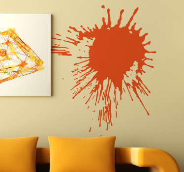 Add a splash of colour to your room! Create an artistic and contemporary effect on your walls with this bold decal of a paint splash.