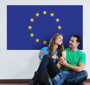 Decals-The flag of the EU-a symbol of the European Union with the identity and unity of Europe. Ideal for homes or businesses.