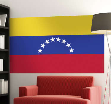 Decals - The Venezuelan flag. The Republic of Venezuela, located in South America. Ideal for homes or businesses.