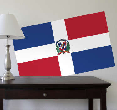 Decals - The Dominican flag. Ideal for homes or businesses. Suitable for personalising gadgets and appliances. Available in various sizes.