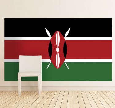 Wandtattoo Flagge Kenia