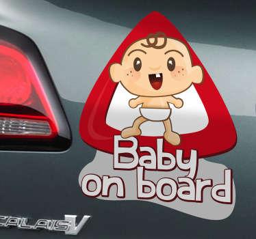 아기 자동차 스티커에 스티커