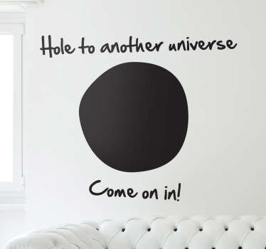 Hole Another Universe wallstickers