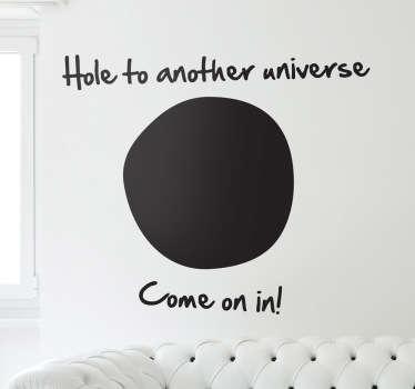 Autocolante decorativo passagem outro universo