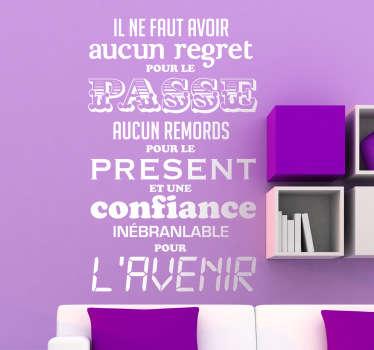 Sticker décoratif phrase Jean Jaurès