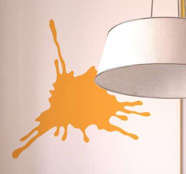 краска всплеск монохромная наклейка стены