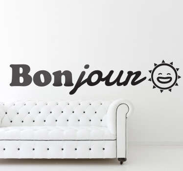 Wish yourself a good day with this positive decal in French. A fantastic way to feel motivated at any time of the day!