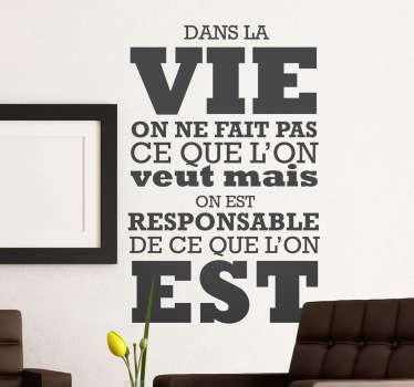 Vinilo decorativo Jean Paul Sartre