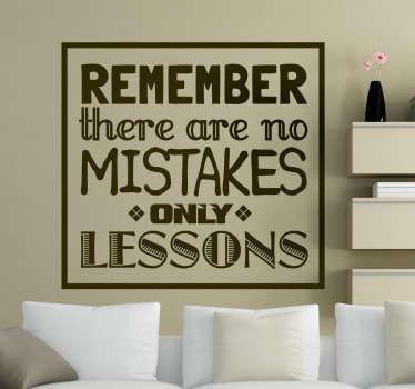 No Mistakes Aufkleber