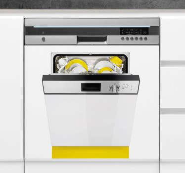 Sticker trompe l'oeil double vaisselle