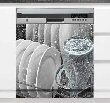 3D Aufkleber Geschirrspüler