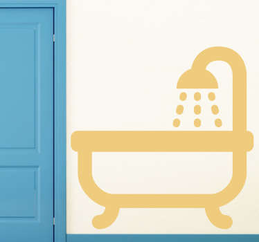 Mit diesem Badewannen Sticker können Sie zeigen, wo sich Ihr Bad mit Badewanne und Dusche befindet. Blasenfreie Anbringung