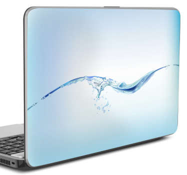 Laptop Stickers - Light blue water theme design great for customising your laptop and protecting it from dust and scratches. Stunning laptop skin showing a photo of the surface of some rippling water to create a cool calming aesthetic for your device.