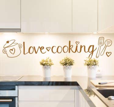 Autocolante Adoro Cozinhar