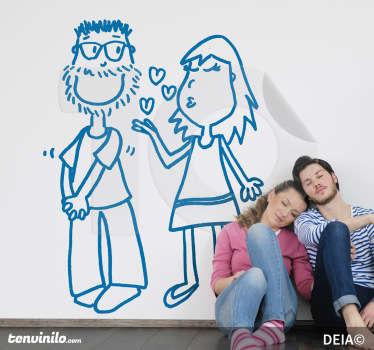 Wall sticker coppia di innamorati