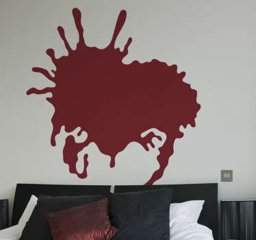 Moderne kunst abstrakt plask abstrakt veggen klistremerke