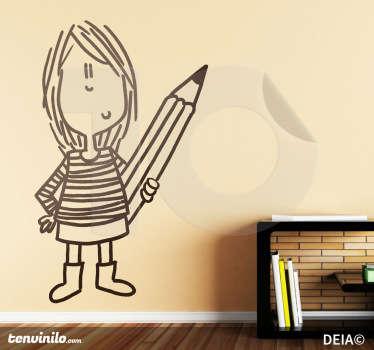 Sticker enfant dessinatrice