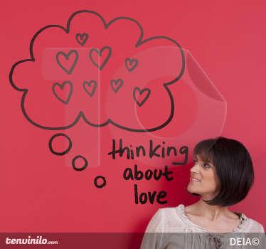 Naklejka myślami o miłości