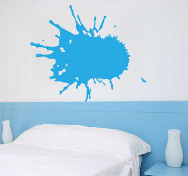 Abstract sticker with a modern touch to decorate the walls and rooms in your home. This art design simulates paint stain