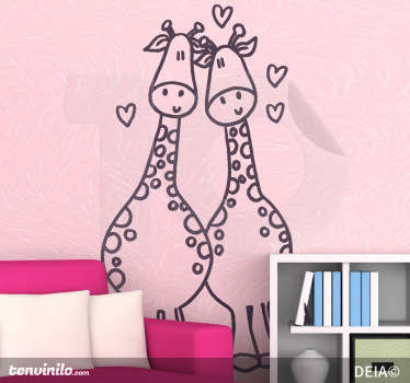 Kids Giraffe Love Wall Sticker