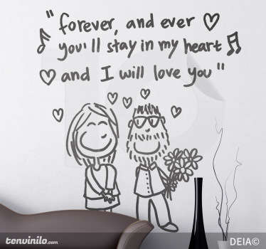 I Will Love You Forever Sticker