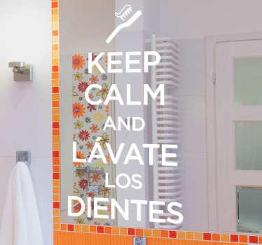 Sticker decorativo lavandosi i denti