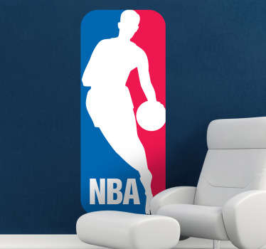 Great logo wall sticker of the national basketball league in the United States, the NBA. Brilliant basketball decal for those sport lovers!