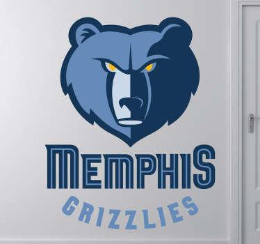 Wandtattoo Memphis Grizzlies