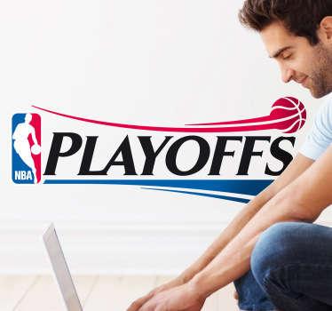 Adesivo murale che raffigura il logo delle finali di basket della NBA. Una decorazione ideale per chi segue la pallacanestro americana.