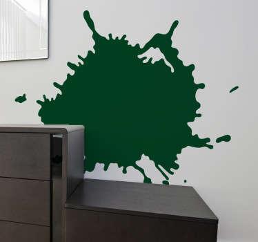 あなたの家の壁や部屋を飾るモダンなタッチの抽象的なステッカー。このアートデザインは、ペイントスプラットをシミュレートします。