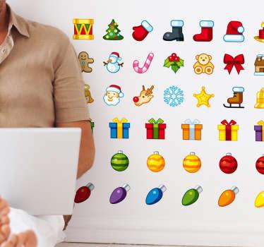 Autocollant kit pictogrammes Noël