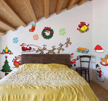 Decoratie sticker kerstmis
