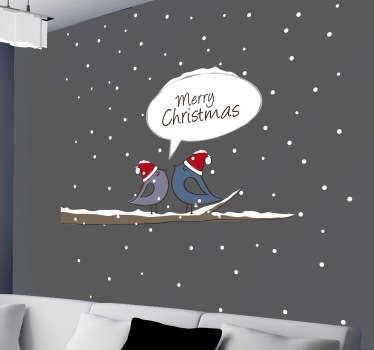 Naklejka dekoracyjna świąteczne ptaszki