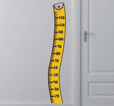 Vinil decorativo régua de medição cinta métrica