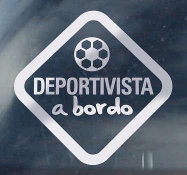 Adhesivo decorativo deportivista a bordo
