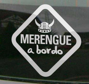 Vinilo de coche para los aficionados al Real Madrid. Si el pequeño de la casa es un verdadero merengue este vinilo quedará perfecto.