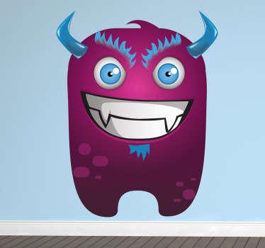 Wandtattoo Kinderzimmer Lila Monster