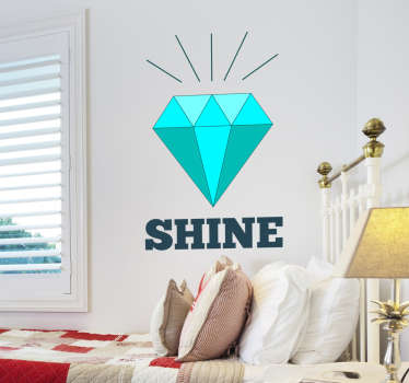 Sticker mural diamant brillant