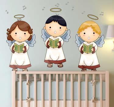 Vinilo infantil coro angelical