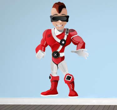 Wandtattoo Kinderzimmer Superheld Brille