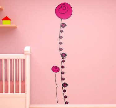 Sticker groeimeter ballonnen
