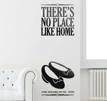 Vinilo decorativo no place like home