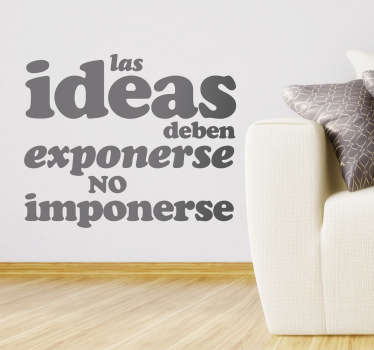 Vinilo decorativo exponer ideas