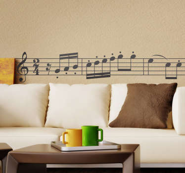 Beethoven symfoni vägg klistermärke