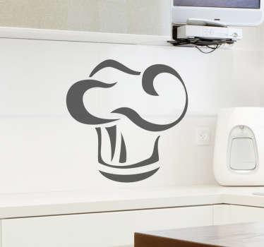 Kockhatt kök vägg klistermärke