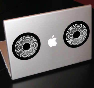 A creative and cool design illustrating two speakers! A fantastic design from our collection of MacBook stickers!