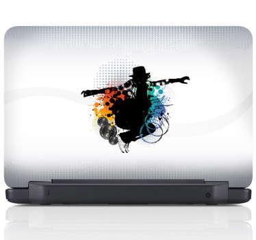 Street dance laptop sticker