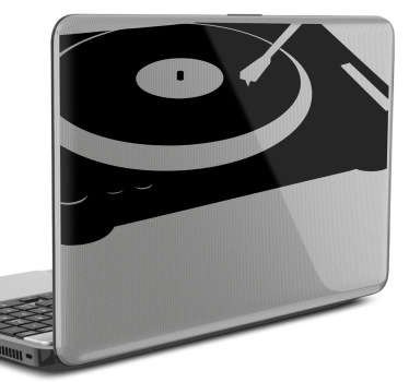 Dj table mixer laptop sticker